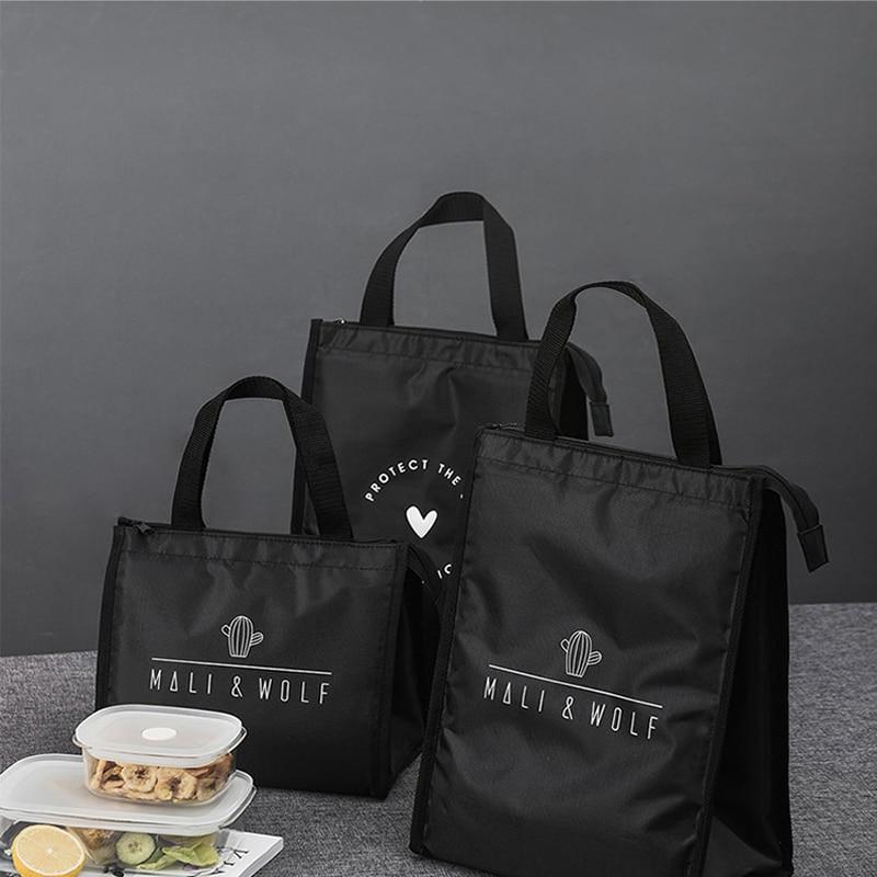 BUBM изолированная сумка для ланча, прочная сумка для бенто, термоизолированная коробка для ланча, сумка-тоут, контейнер для ланча