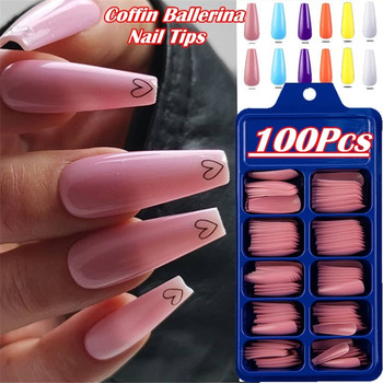 New Candy Color Full Cover Matte False Nail Tips Nail Art Manicure Matte Tips for False Fake Nails Extension False Nails 100Pcs 100pcs set full cover matte false nail tips nail art manicure matte tips for false fake nails extension for false nails dropship
