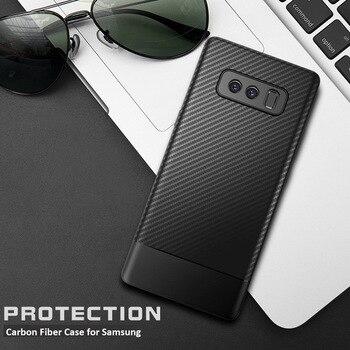 Funda de teléfono de fibra de carbono para Samsung Galaxy S8 S9 S10 Plus S10E Note 8 9 10 Pro M10 M20 de lujo funda carcasa de silicona suave