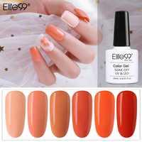 Elite99 10ml Orange Reine Farbe UV Gel Polish Nail art Lack Soak Off Gel Nagellack UV Maniküre Begonie serie Gel Lack
