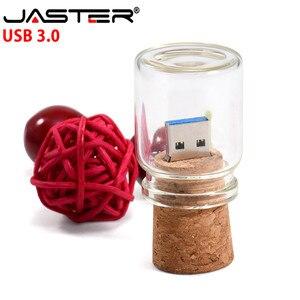 Image 3 - JASTER USB 3.0 boîte de curseur en bois + bouteille de dérive modèle clé USB 4GB 8GB 16GB 32GB 64GB 128GB clé USB LOGO personnalisé