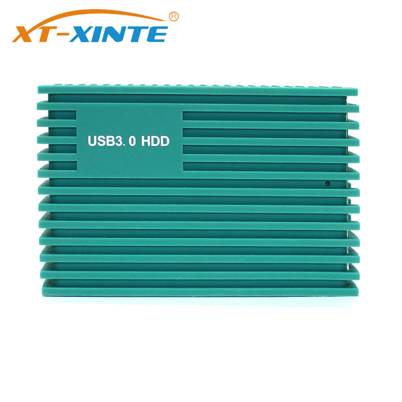 XT-XINTE 2.5 Inch SATA Silicone HDD Enclosure Box Hard Disk Drive SSD External Adapter Case Shock-resistant USB 3.0 6Gbps