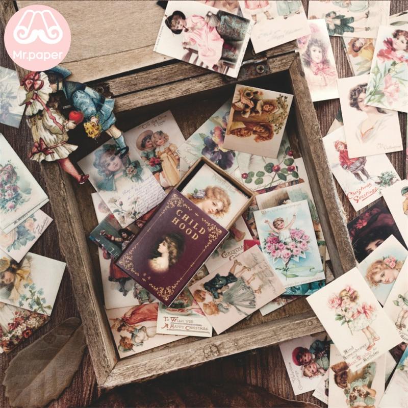 Mr.paper 100pcs/box Vintage Story Kraft Paper Scrapbooking/Card Making/Journaling Project DIY Diary Decoration LOMO Cards 3
