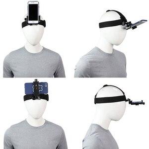 Image 5 - Head Band Phone Holder Adjustable At Harness Strap Belt Mount Tripod Clip Bracket For Gopro Camera Iphone Android Smartphone