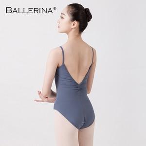 Image 5 - Ballet justaucorps dos nu femmes Ballet fille adulte gymnastique justaucorps danse vêtements ballerine 5549