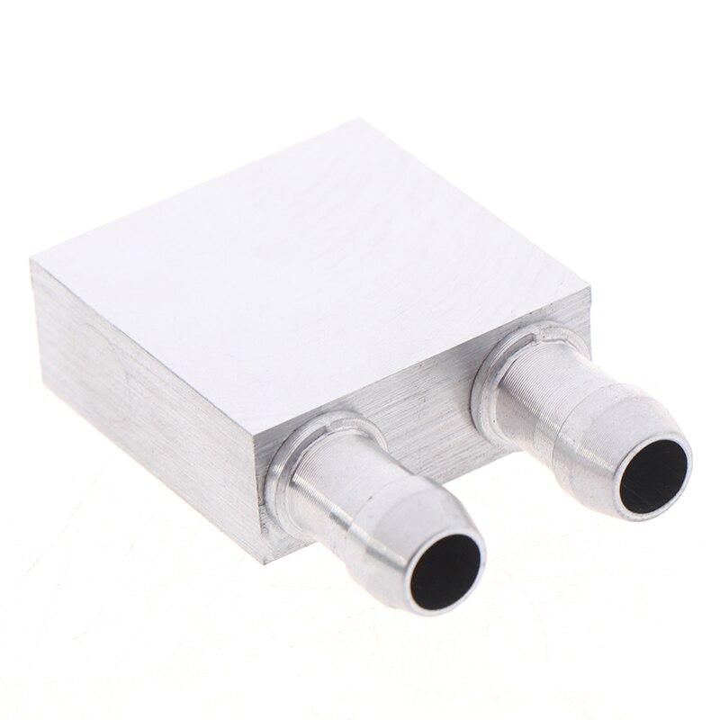 1 шт. 30x30x12 мм алюминиевый блок радиатора с водяным охлаждением водяной блок жидкостный охладитель для ПК ноутбука