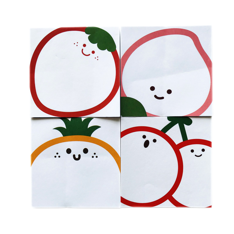 50 Pages Cute Simple Fruit Pineapple Cherry Strawberry Peach Memo Pad Sticky Notes School Supply Student Stationery Kids Gift