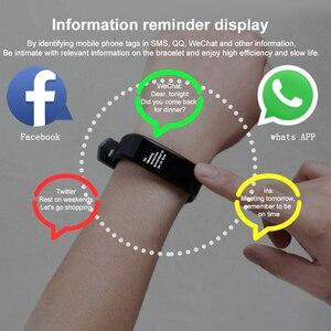 Image 4 - 115 mais inteligente pulseira de pressão arterial, relógio fitness rastreador freqüência cardíaca banda inteligente atividade rastreador pulseira