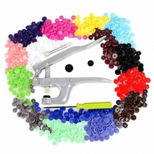 Top Selling Fastener Snap Pliers KAM Button+150 Set T5 Plastic Resin Press Stud Cloth Diaper