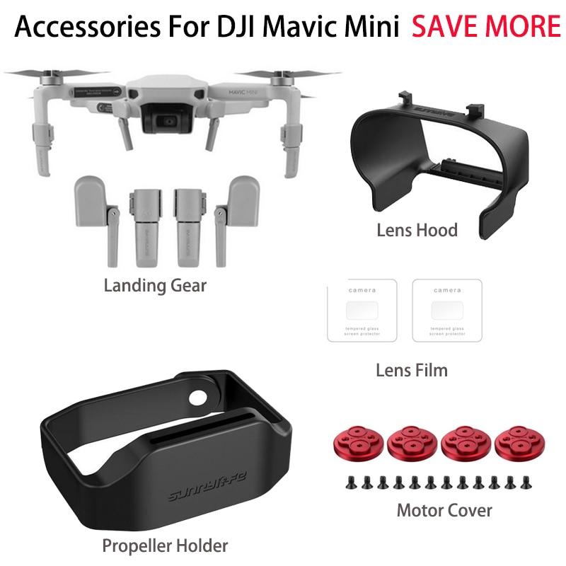 Landing Gear Lens Hood Props Holder Motor Covers Camera Lens Protective Film For DJI Mavic MINI Drone Accessories