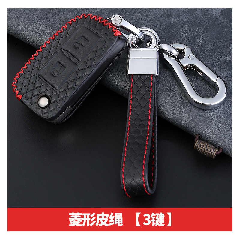 Obudowa kluczyka do samochodu ze skóry wołowej dla nissana x-trail Juke Qashqai Micra Pulsar 2014-2019 Rogue Murano Navara NP300 NV200 Patrol Kicks
