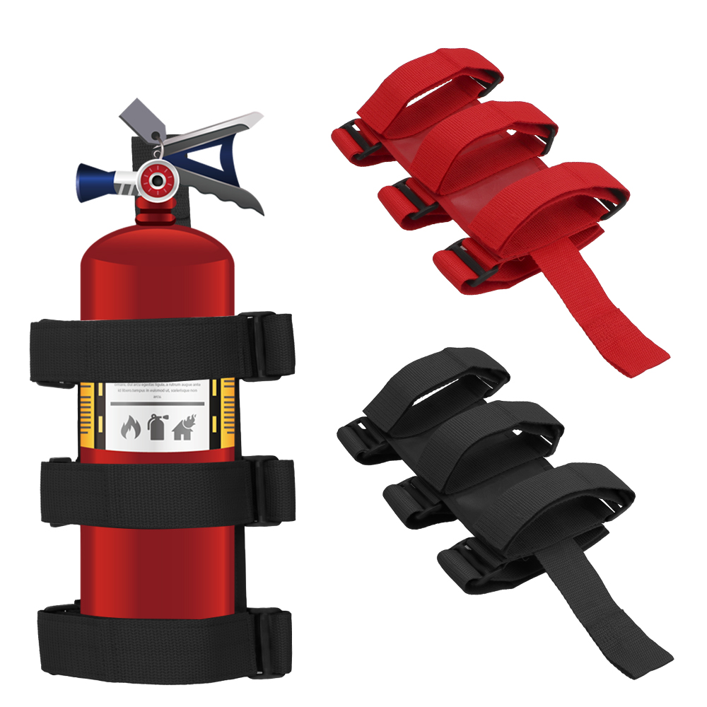 LEEPEE Car Fire Extinguisher Mount Strap for Jeep Wrangler TJ JK JL 97-18 Car Roll Bar Fixed Sundry Fire Extinguisher Holder