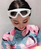 Óculos de natação prescrição óculos de natação anti nevoeiro de alta definição à prova dwaterproof água adulto feminino vidro liso grande frame s Óculos de segurança     -