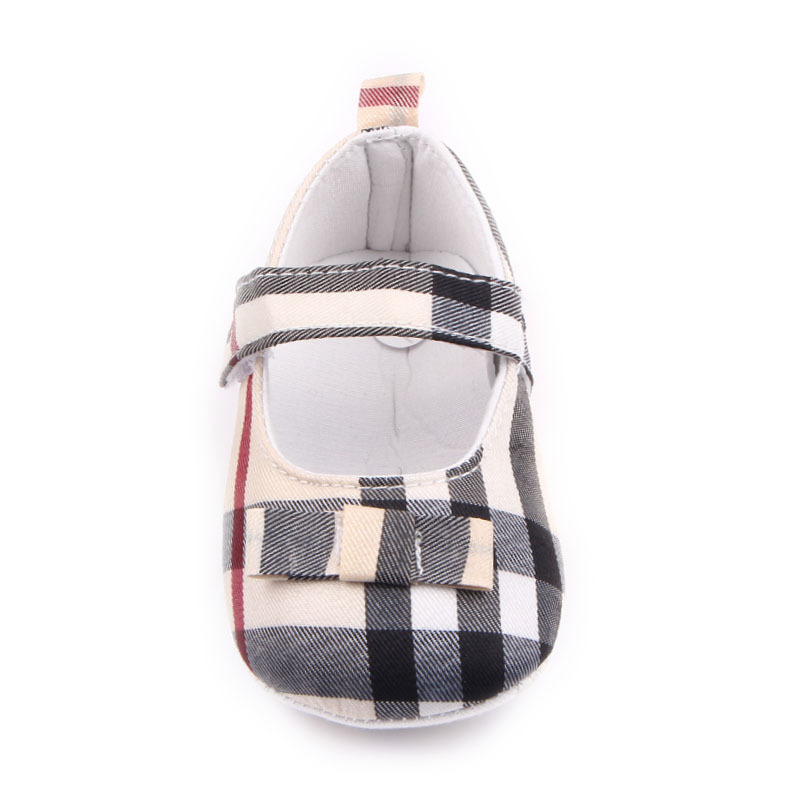 New Style Plaid Baby Shoes Infants Kids Shoes Toddler Shoes Supply