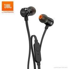JBL – écouteurs stéréo filaires T290, casque d'écoute de Sport, basse Pure, airs 290, écouteurs à distance à 1 bouton, mains libres, appel avec micro pour Smartphones