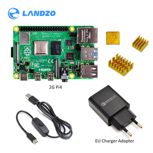 Image 1 - 2019 new Original Raspberry Pi 4 Model B 2GB/4GB  Starter Kit with power switch line  EU/US Charger Adapte and 32G TF card