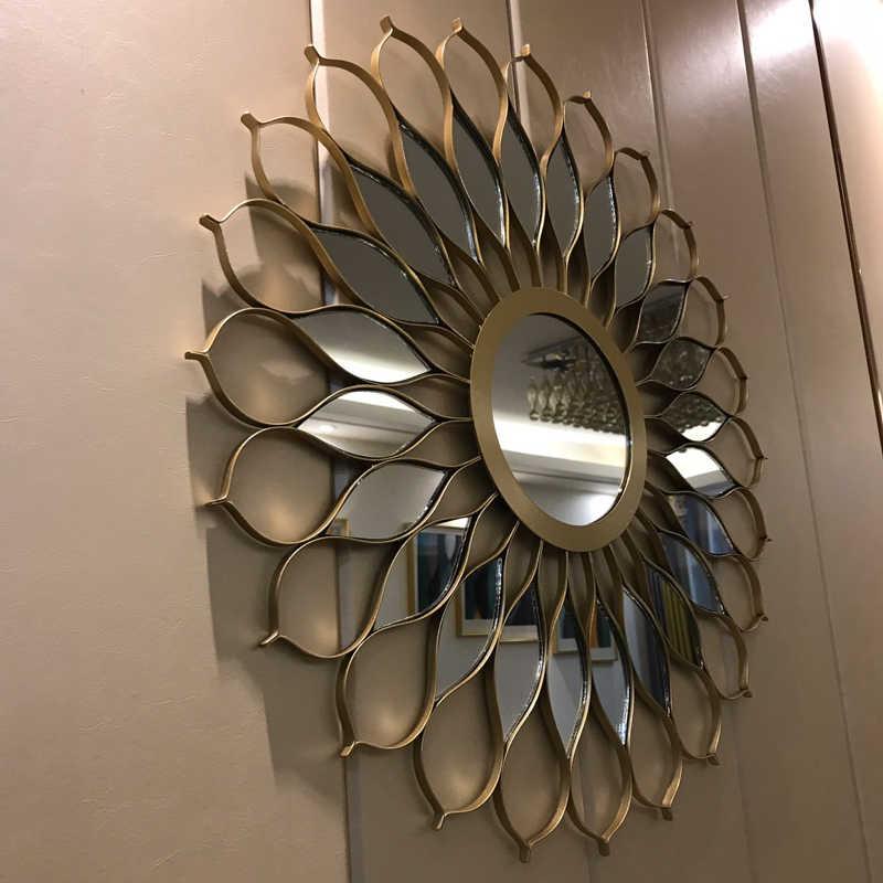 Big Wall Mirror Metal Living Room Wall Decor Frame Mirror Luxury Vintage Wall Decorative Mirror Big Home Decoration Large Mirror Aliexpress