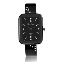 Fashion Black Bangle Watches Womens Xinhua Stainless Steel Quartz Women Casual Ladies reloj mujer 2019