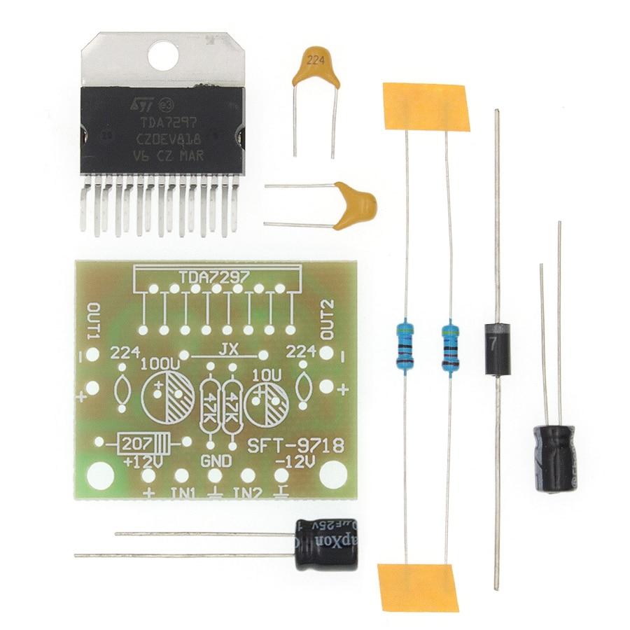 TDA7297 amplifier board spare parts dc 12v grade 2.0 dual audio encoding 15w electronic diy kit