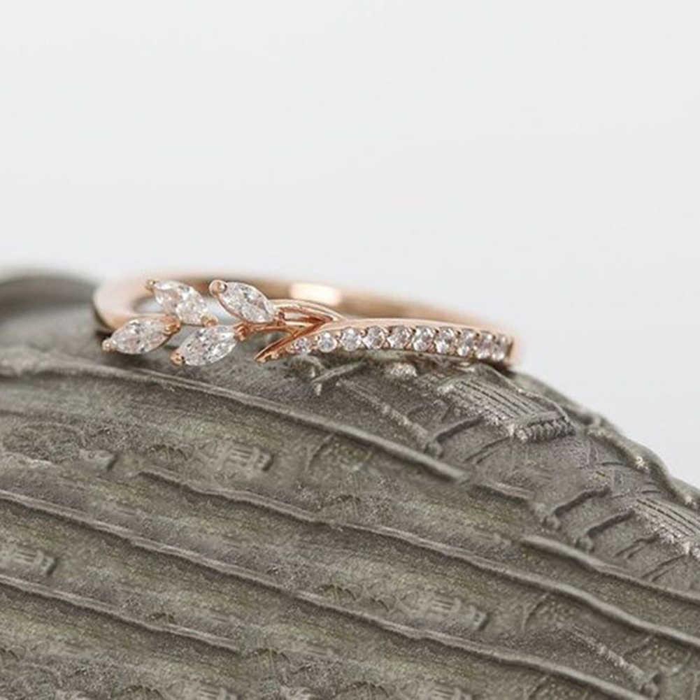 Le donne Dell'annata Semplice Floreale di Cristallo del Rhinestone Degli Anelli di Cerimonia Nuziale di Fidanzamento di Barretta di Modo Accessori Anelli Gioielli Regali Della Ragazza