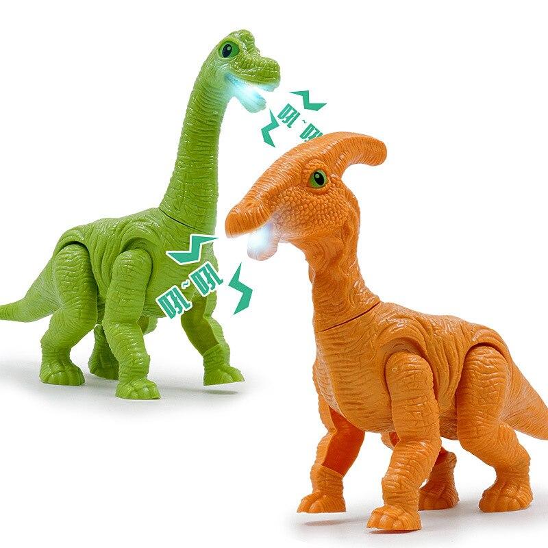 Hot Sales Electric Dinosaur Jurassic Family Plastic Imitation Dinosaurs Sound, Lighting Music Electric Walk Dinosaur Model