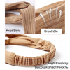 Women Headband Cross Top Knot Elastic Hair Bands Soft Solid Color Girls Hairband Hair Accessories Twisted Knotted Headwrap 6
