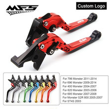 CNC Brake Clutch Levers Handle For Ducati Monster 796 696 695 620 400 S2R 800 ST4S Hypermotard 796 Motorcycle Brake Levers