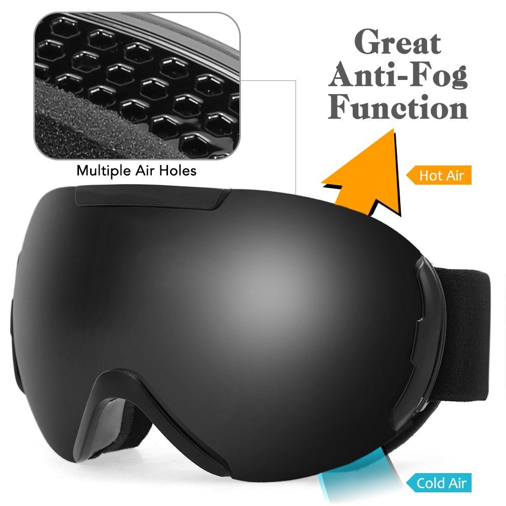 Winter Sports OTG Ski Goggles Anti-fog UV Protection Double Lens Snow Goggles Eyewear Snowboard Skiing Skating For Men Women