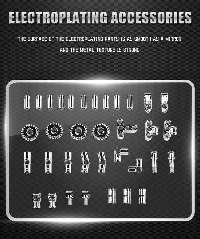 MOULD KING 13081 MOC 17750 Technic Ultimate Muscle Car Building Block (1098PCS) 3