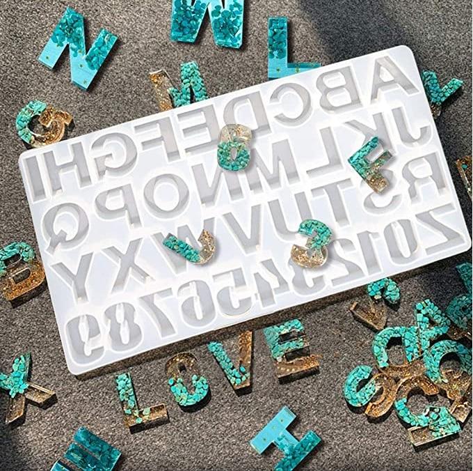 Casting-Mold Jewelry Cake-Craft Sugar Letter Alphabet Reversed DIY Number Backward Outgeek