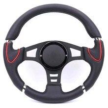 Black Classical 14inch Genuine Leather Steering Wheel Drift Sport Steering Wheels