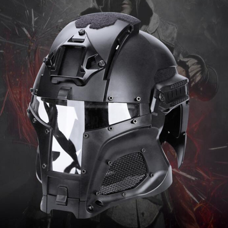 New Military Combat Helmets Full-covered Airsoft Paintball Army Helmet Full Face Protective Men Iron Warrior Tactics Helmet