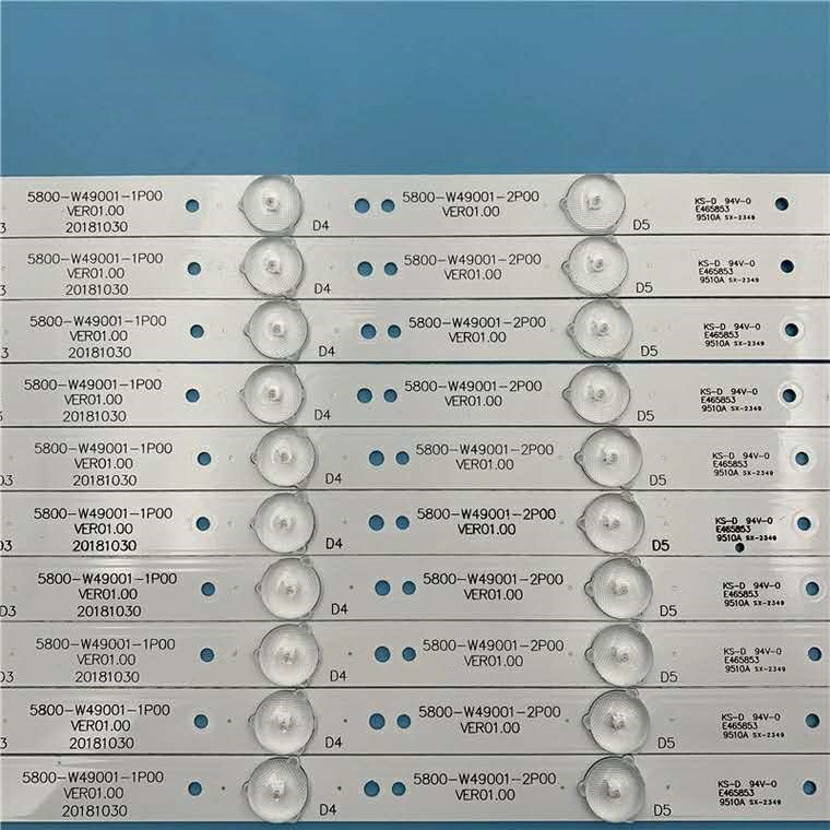 5800-W49001-0P00 retroiluminação Led para 49E3000 49E6000 49E360E/5ERS 5800-W49001-1P00 5850-W50007-1P00 6 5800-W49001-DP00 480 MILÍMETROS Leds