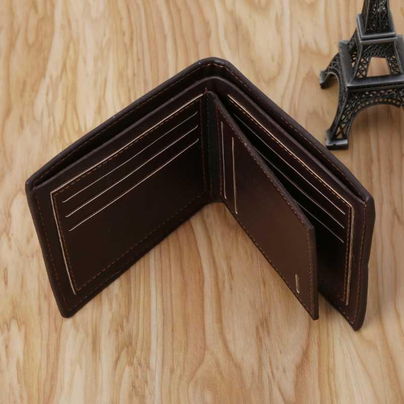 Thời Trang Nam Da Ví Loại Thẻ Billfold Ví CLUTCH