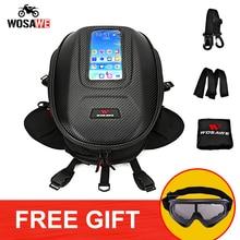 WOSAWE 8-12L Motorcycle Magnetic Tank Bag Mobile Phone GPS Navigation Bag Moto Motocross Multifunctional waterproof Tank Bag