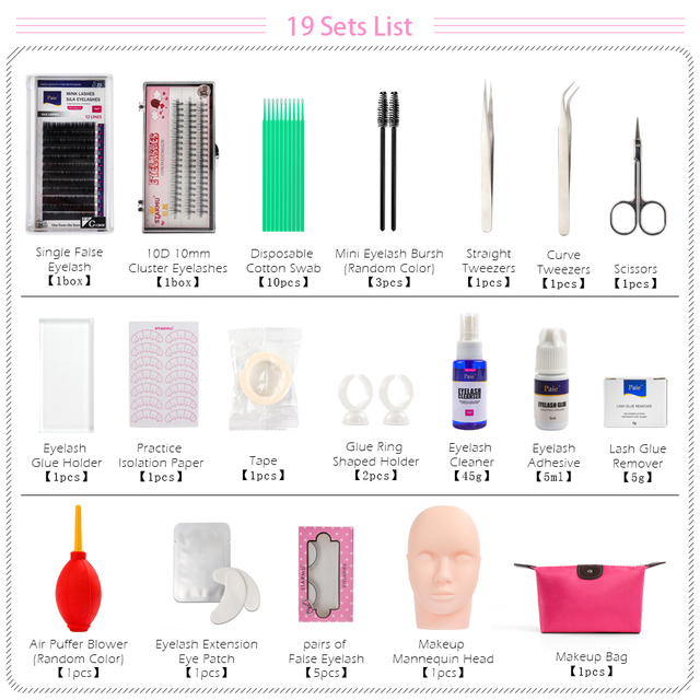 VeryYu 12,14,16,19 Eyelash Training Kit Eyes Care Personal Care  VeryYu the Best Online Store for Women Beauty and Wellness Products