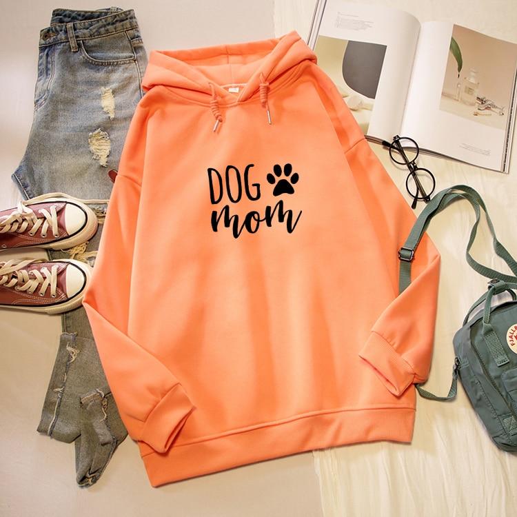 Dog Mom Letter Print Hoodies Women Korean Fashion Kawaii Graphic Sweatshirt Oversized Long Sleeve Female Pullover Streetwear Top 7