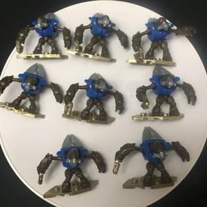 8 figuras de acción HALO 10 años aniversario azul Grunt MEGA edificio bloks juguete