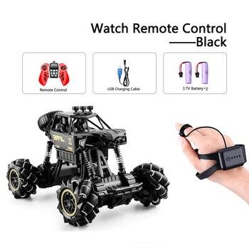 1:16 Rc Autos 4wd Uhr Control Geste Induktion Fernbedienung Auto Maschine Fur Radio-gesteuert Spielzeug Autos Stunt-Auto - RcCar001-Black-2B