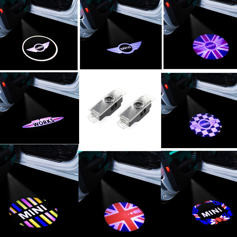 2x светодиодный подсветка двери автомобиля с логотипом Предоставлено лазерный проектор лампа для Mini Cooper R55 R56 R57 R58 R59 R60 R61 F55 F57 One S Countryma