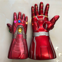 Gauntlet-Gloves Cosplay Prop Kids Adult War Halloween Toys LED Party