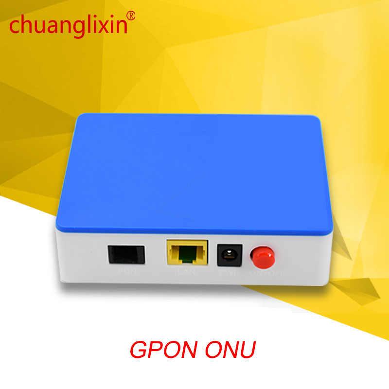 CHUANGLIXIN GPON ONU ルータ 1GE GPON ONT 1 ポート単一の Lan ポート OLT 1.25 グラム Gpon 繊維にホーム FTTB 1 個