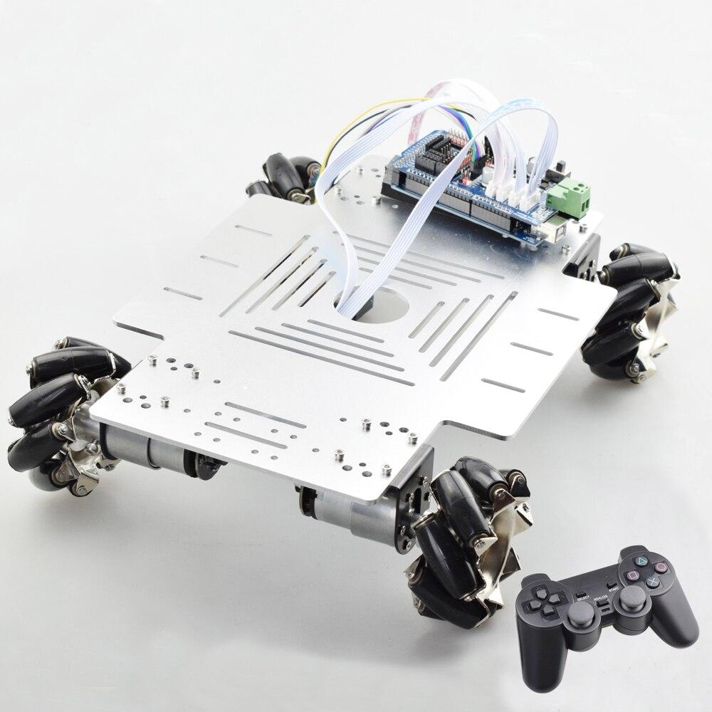 25KG Big Load Smart RC Mecanum Wheel Robot Car Chassis Kit Omni Platform with PS2 Mega2560 Controller for Arduino Project