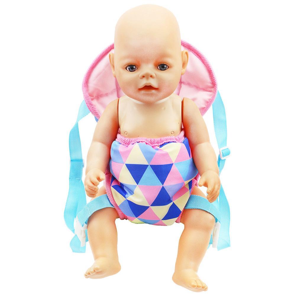 18IN Baby Kids Reborn кукла-переноска, рюкзак, игрушка, Реалистичная детская игрушка для новорожденных с передней и задней переноской с ремнями для д...