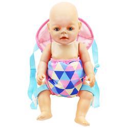 18in bebê crianças renascer boneca carregador mochila, brinquedo, realista, recém-nascido, brinquedo com frente e traseira, transportador com tiras para presente das crianças