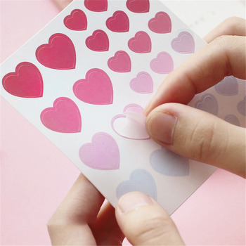 3 Sheets Love Heart Stickers Journal Kawaii Stationery Sticker DIY Diary Scrapbooking Cute Washi - discount item  10% OFF Stationery Sticker