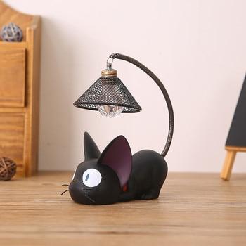 LED Night Light Creative Childrens Resin Cat Animal Ornaments ночник детский Gift Small Nursery Lampka