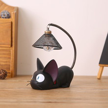 LED Night Light Creative Childrens Resin Cat Animal Ornaments Home Decoration Gift Small Nursery Lamp Breathing