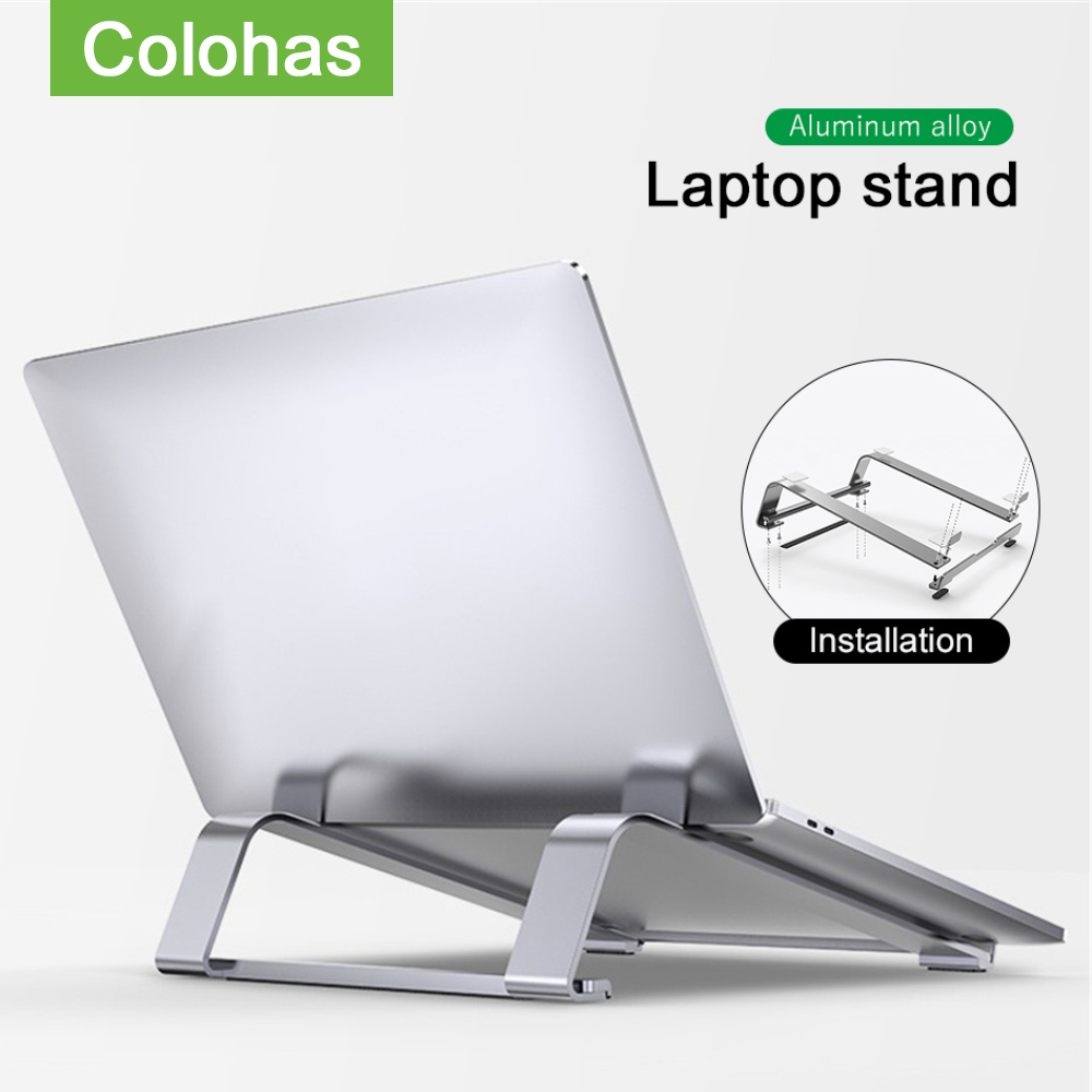 Aluminum Alloy Notebook Stand Portable Laptop Stand Holder For Macbook Air Pro 13 15 Non-slip Silicone Computer Cooling Bracket