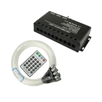 Controlador de luz efecto Meteor 5W estrellas de disparo motor RF Control remoto PMMA Cable de fibra óptica LED iluminación para proyecto decorativo|Luces de fibra óptica| |  -
